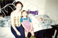 This is a photo from the day I first met little Emily and Hanna.