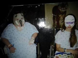 Em and Hailee masked