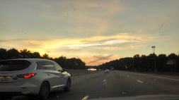 No matter how much bug juice is on the windshield of our lives, we can still see through it, to little reminders of our Lord Jesus Christ, who is ever on the road ahead. and forever on the horizon.