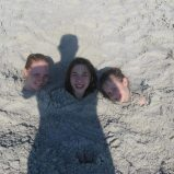 In the Sand w- Crystal and Hanna