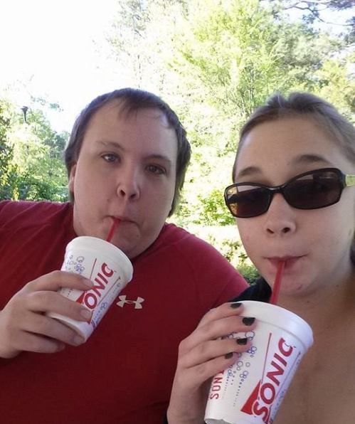 Emily and Steven Sipping Sonic